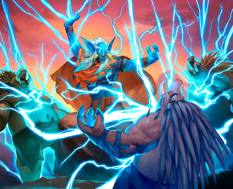 Ranked spells, like Chain Lightning, is one of the new mechanics coming to Hearthstone in 2021.