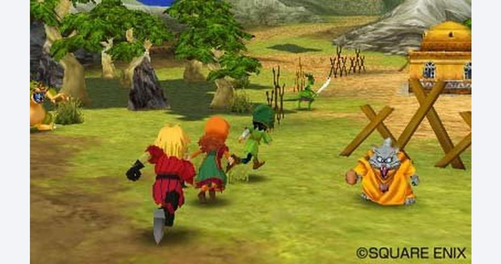 Dragon Quest VII's heroes on their (very long) quest.