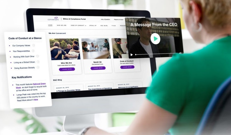 Convercent's ethics and compliance portal