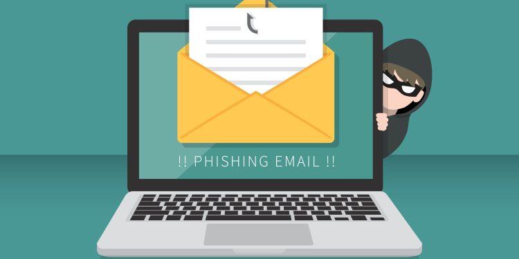 Email data phishing: Hacking concept photo