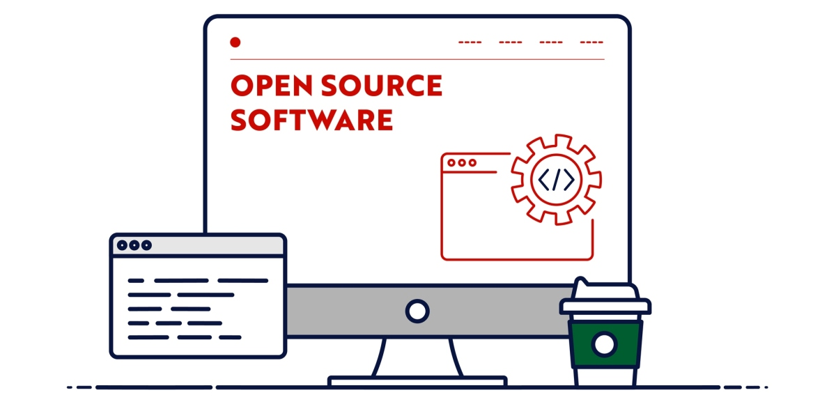 Concept illustration for open source software