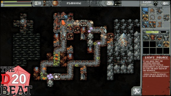 Loop Hero's world has been destroyed by a lich. You're out to restore it.