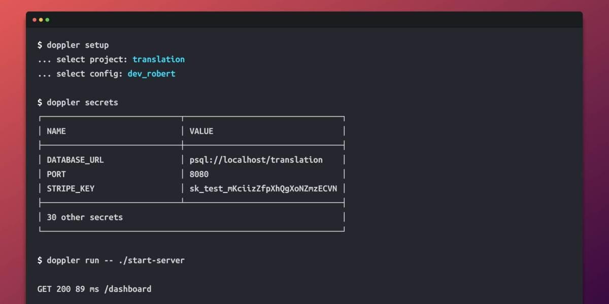 Doppler's command line interface (CLI)