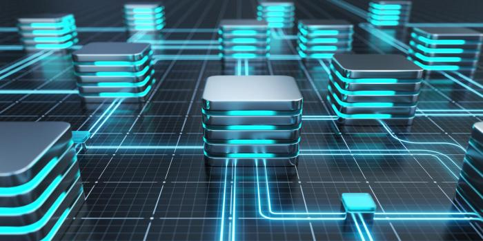 Abstract image of databases