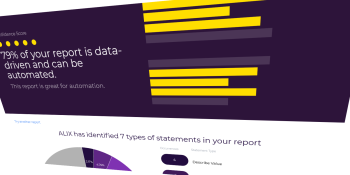 Yseop now tells you what percentage of a financial report can be generated automatically