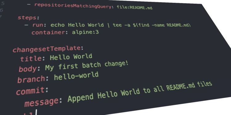 Sourcegraph: Batch changes