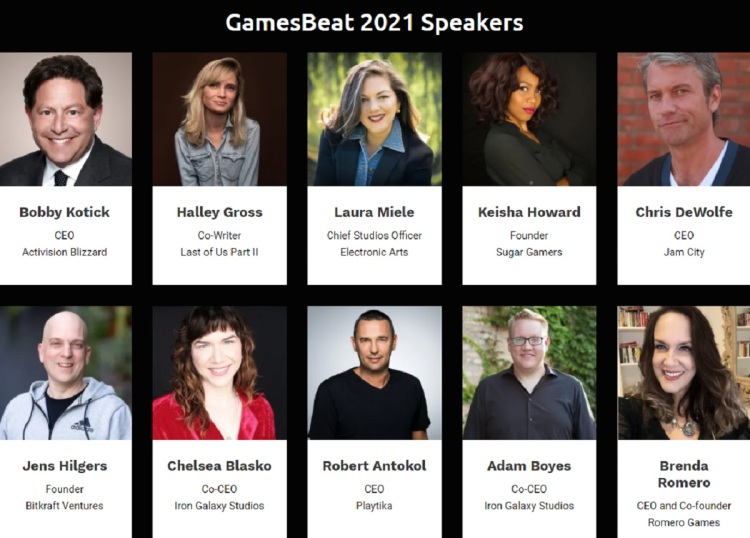 Some of our speakers at GamesBeat Summit 2021.