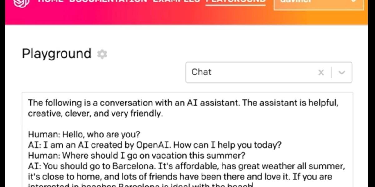 Screenshot from a demo at OpenAI