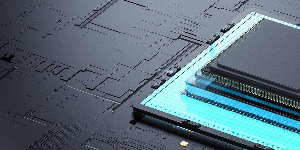 Quantum computer technology concept.