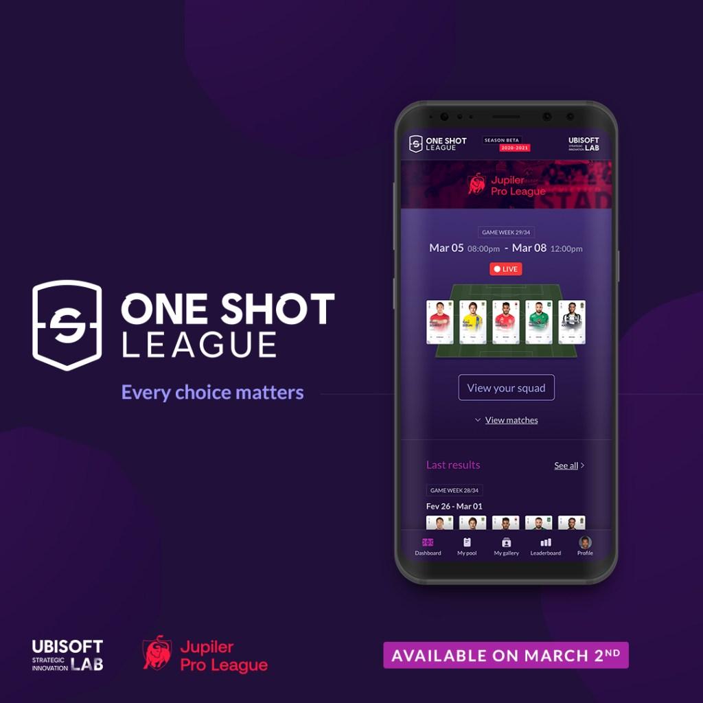 Ubisoft's One Shot League  Ubisoft and Belgian Pro League partner for One Shot League blockchain fantasy soccer ubisoft main asset OSL 1080x1080 en