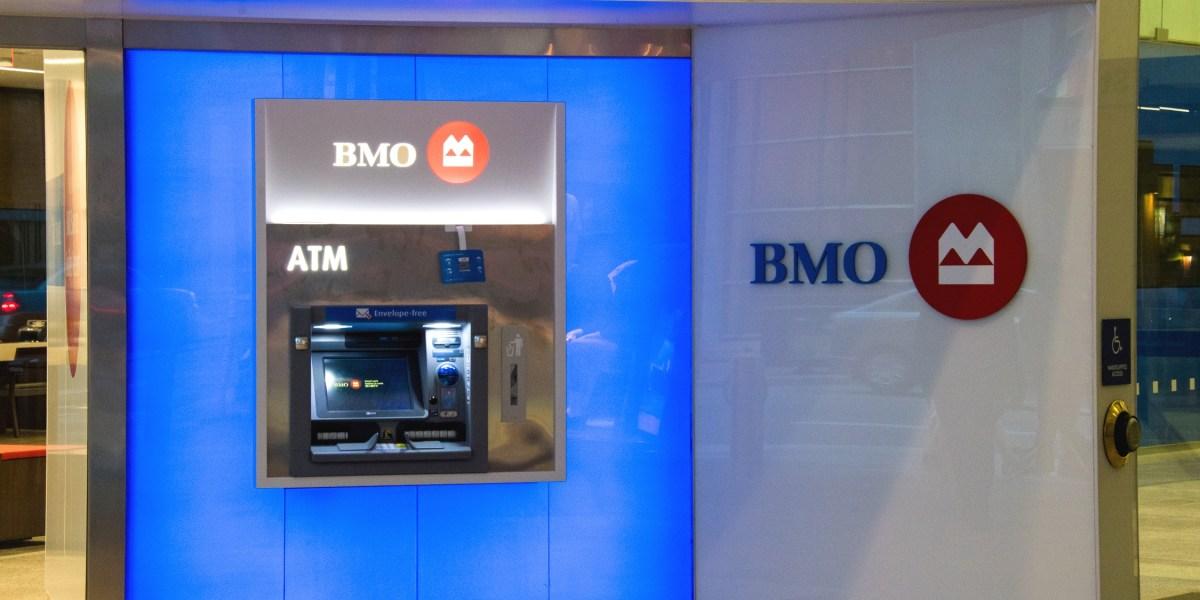 TORONTO, ONTARIO, CANADA - 2016/07/01: BMO personal banking machine
