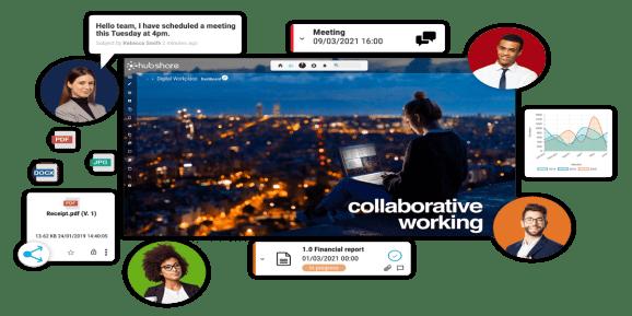 Screenshot of Hubshare program