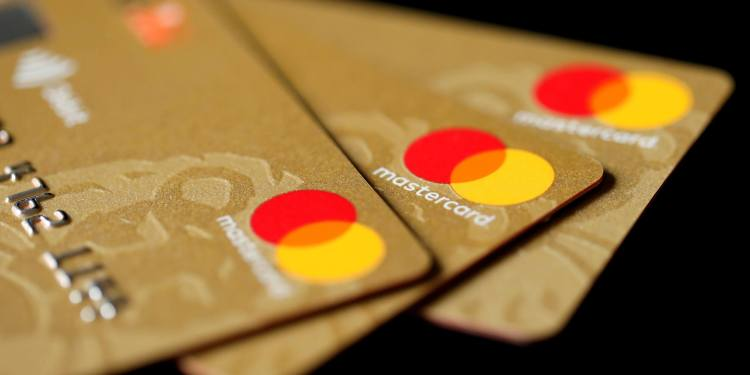 Three MasterCard credit cards