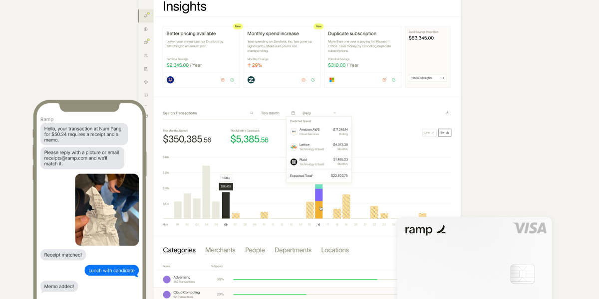 Ramp: Corporate card with spend management insights
