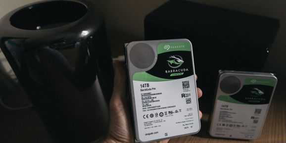 Two hard disk drives and a computer