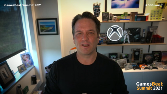 Phil Spencer hosting a session for GamesBeat Summit.