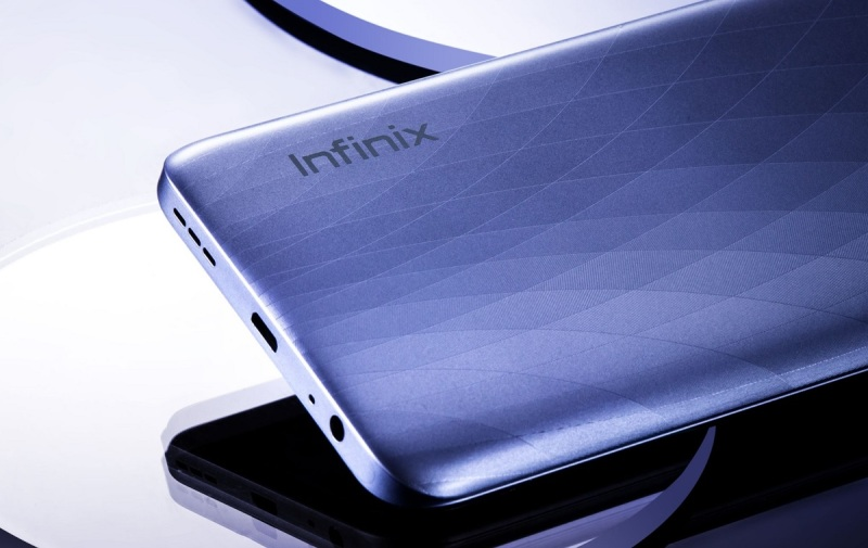 Infinix has a nice finish on its back.
