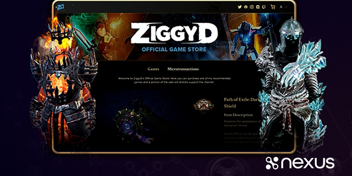 Nexus.gg will enable creators for Path of Exile to have their own custom stores.