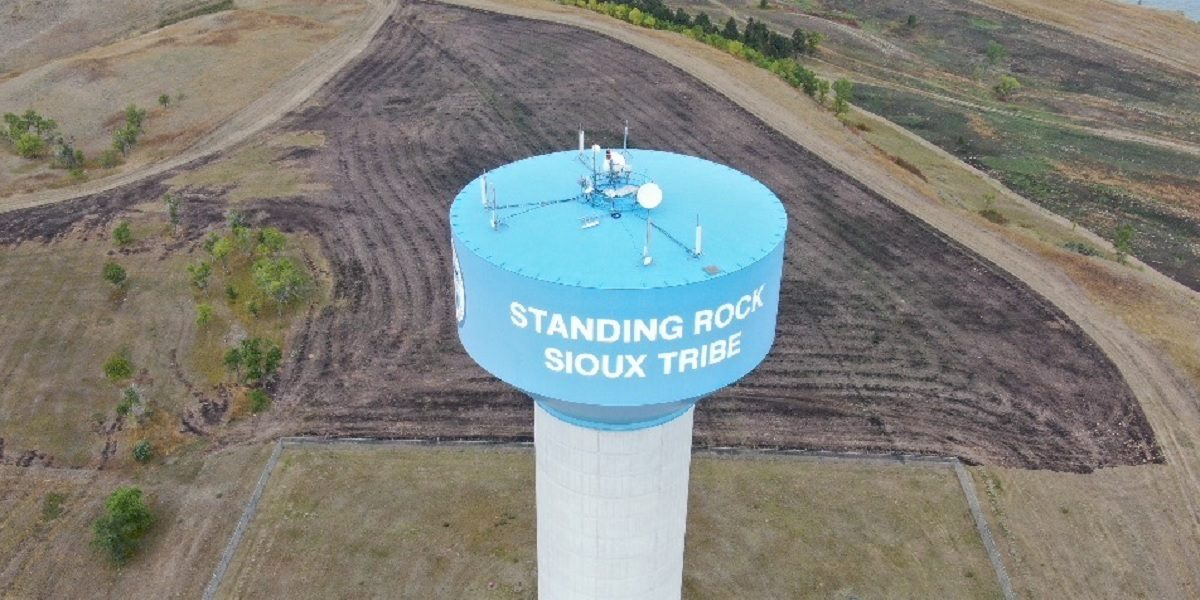 Nokia's equipment atop a Standing Rock Communications tower.