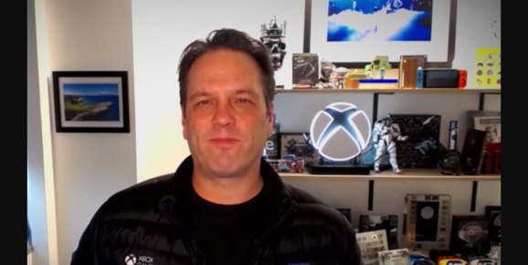 Phil Spencer speaks in shelf.