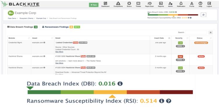 Black Kite Ransomware Susceptibility Index