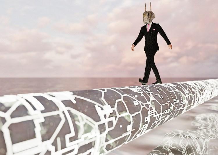 futuristic business pipeline