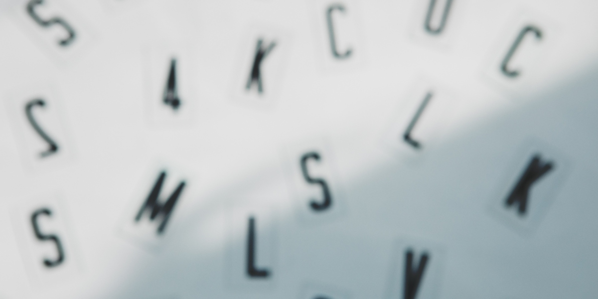 blurred letters