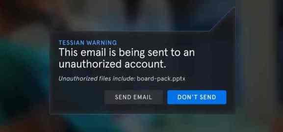 Tessian prevents misaddressed emails