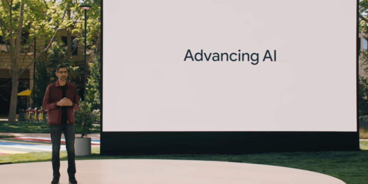 Sundar Pichai at Google I/O 2021