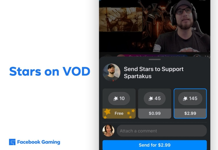 Facebook Gaming is experimenting with new monetization.