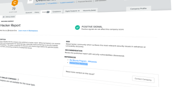 SecurityScorecard taps HackerOne to bring bug bounty data to security ratings