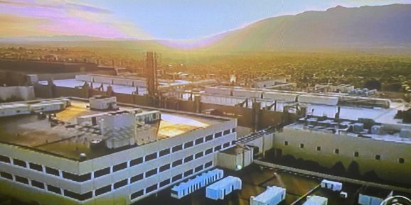 Intel's chip factory in New Mexico.