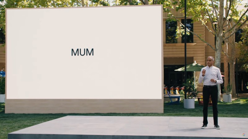 At Google I/O 2021, Prabhakar Raghavan, senior vice president at Google, presents on MUM