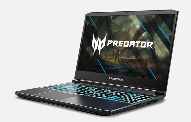 The new Predator Triton 300 uses Nvidia GeForce RTX 3050 family GPUs.