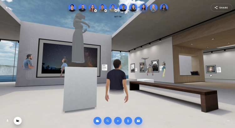 Spatial can now show off NFT art in its virtual galleries.