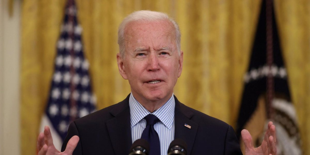 U.S. President Joe Biden delivers remarks on the April jobs report from the East Room of the White House in Washington, U.S., May 7, 2021.