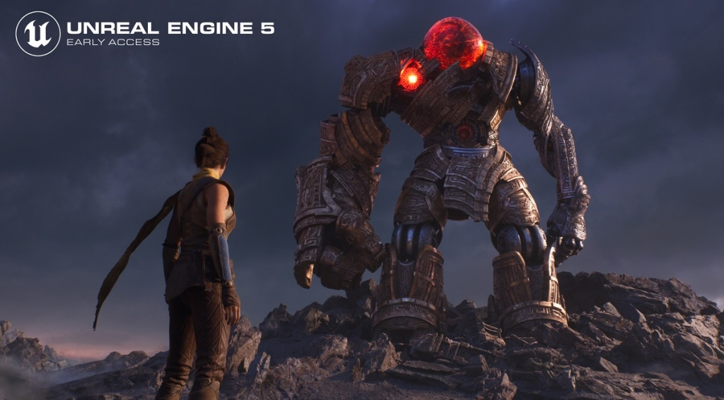 Echo goes up against the Ancient in an Unreal Engine 5 demo.