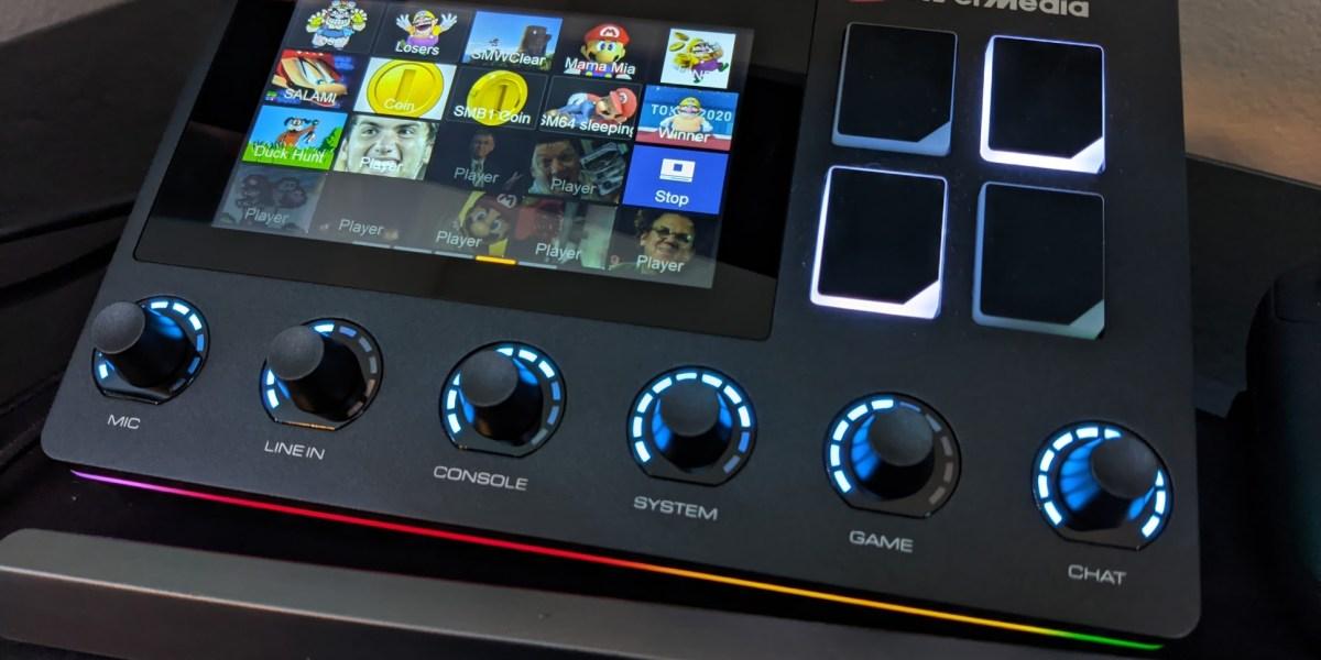 AVerMedia Live Streamer Nexus set up with my soundboard.