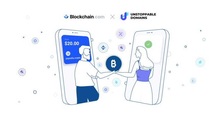 Blockchain.com and Unstoppable Domains have teamed up.