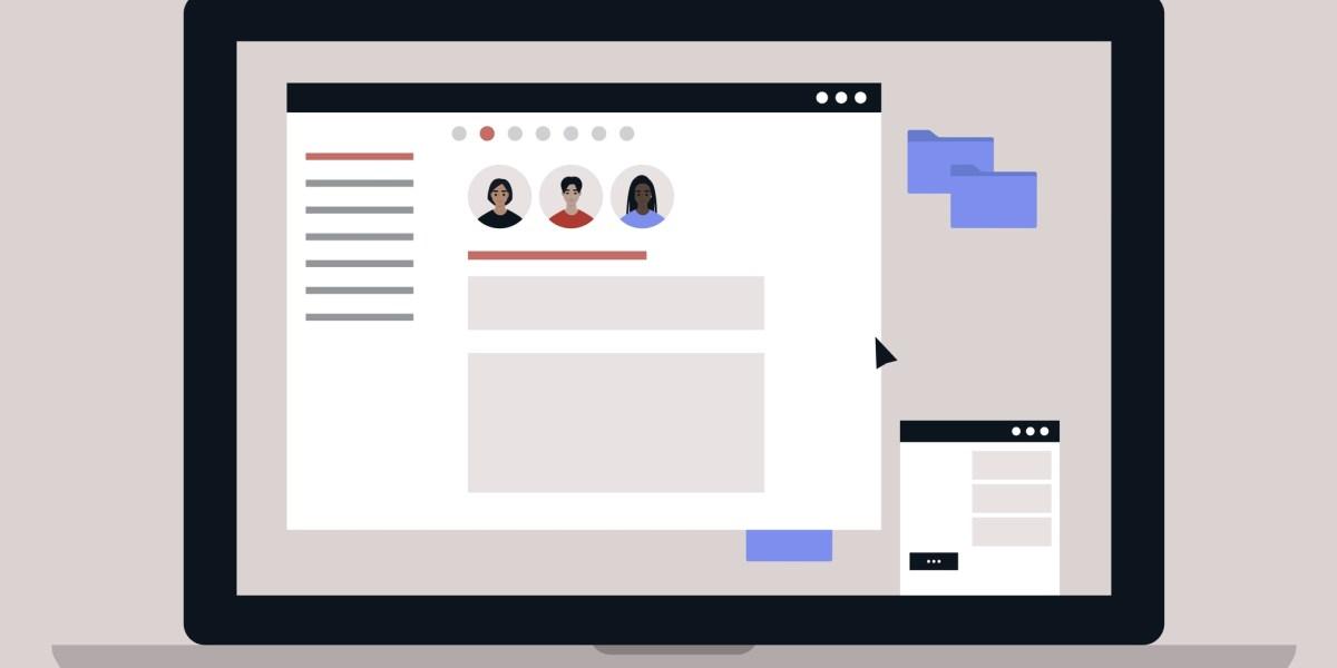 Generic team chat software illustration