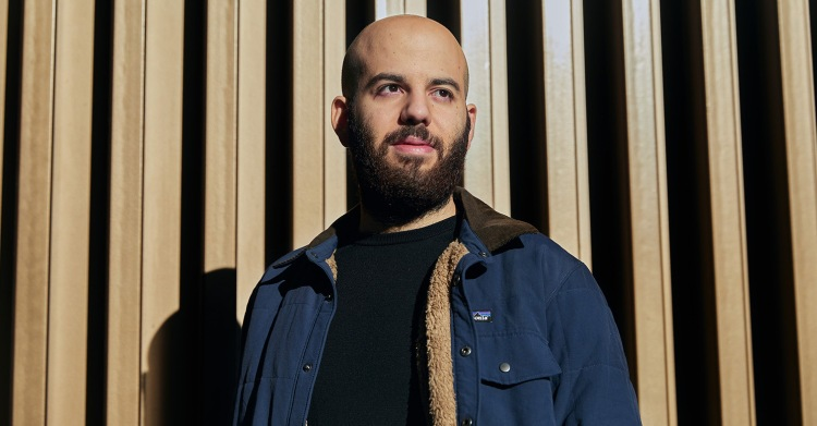 Portrait of Johnny Boufarhat in Palau Robert, Barcelona, Spain. Shot in December 2020. Story is a broad look at how the cash is flowing / good times are rolling / bubble is inflating again among tech startups.