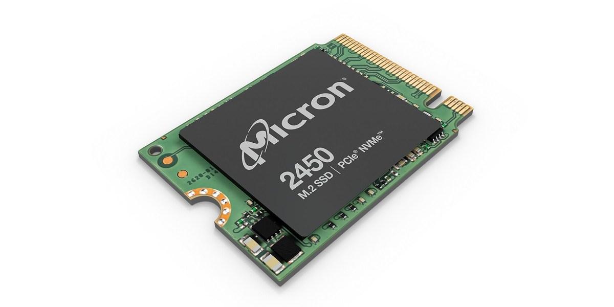 Micron 2450 M2 SSD module.