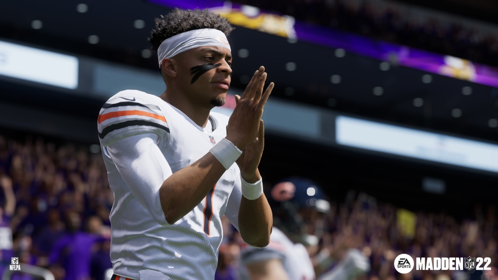It's going to take Madden NFL 22 some time to get some useable Next Gen Stats on Chicago Bears rookie QB, Justin Fields.