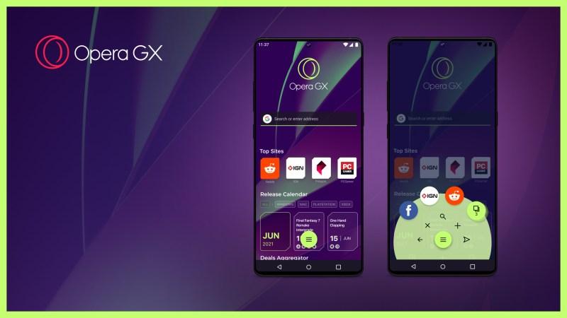 El navegador móvil Opera GX es personalizable para los jugadores.