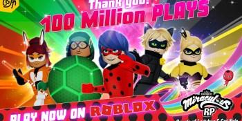 Toya's Miraculous Ladybug gets 100M plays on Roblox