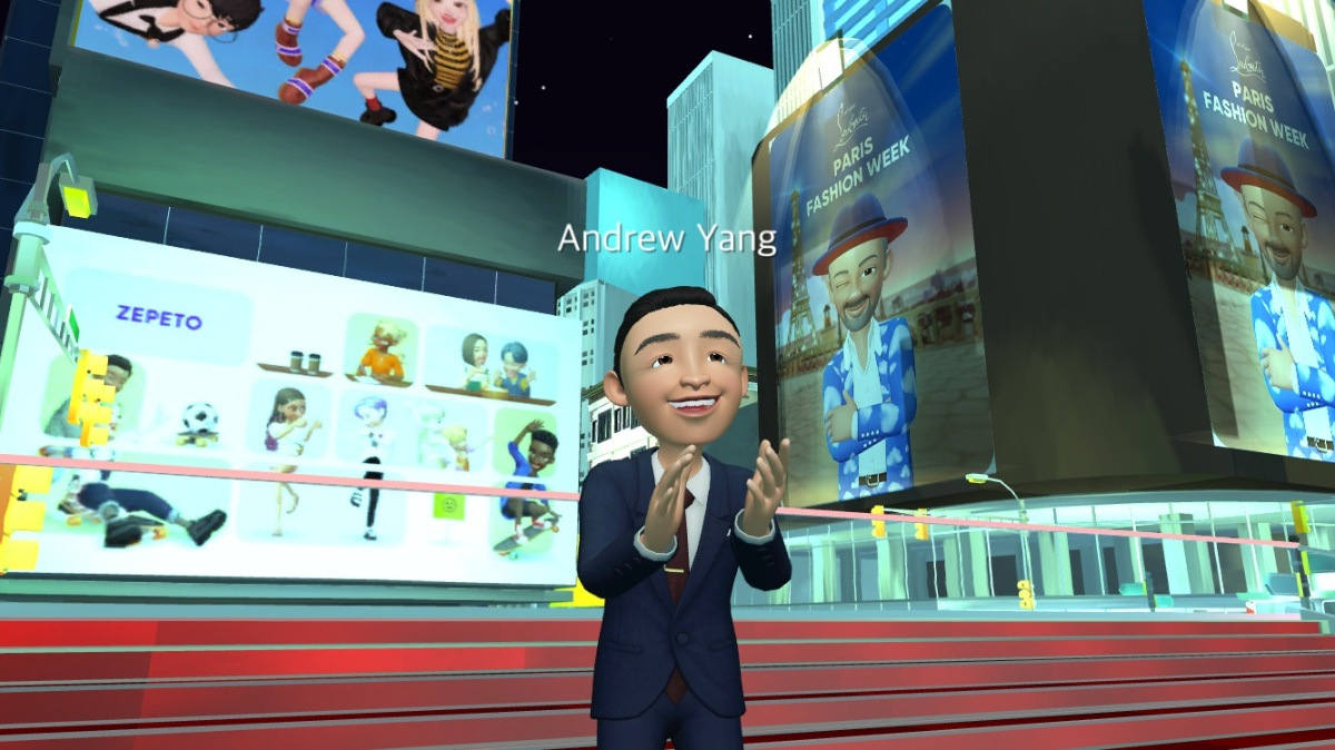 <p>NY mayoral candidate Andrew Yang Unites the metaverse with a Zepeto avatar thumbnail