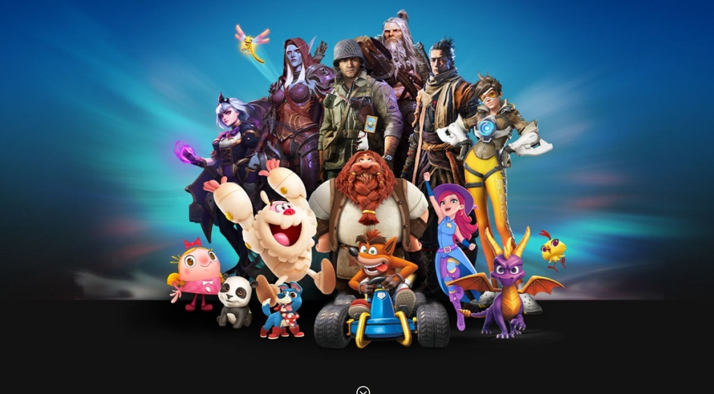 Activision Blizzard's game characters.