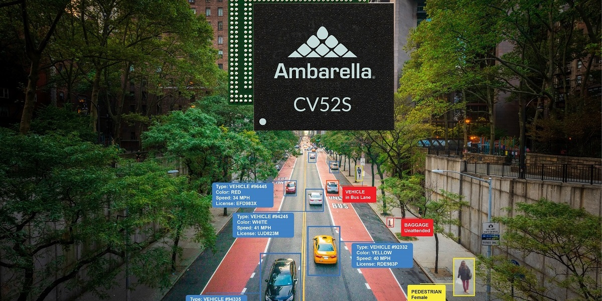 Ambarella's AI chips can handle computer vision for security cameras.
