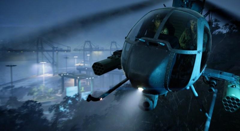 Battlefield 2042 presenta un elicottero a due posti dall'aspetto piuttosto potente.