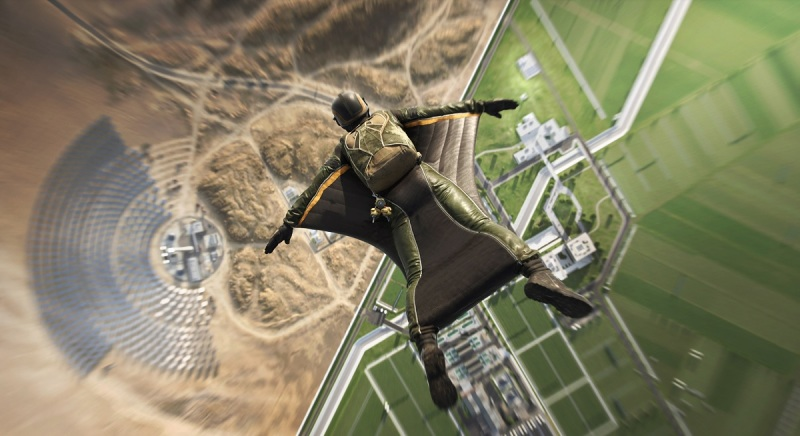 You can jump into the map with a squirrel suit in Battlefield 2042.